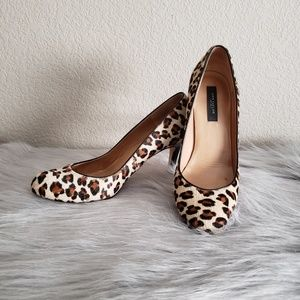 Ann Taylor Leopard Print Heels